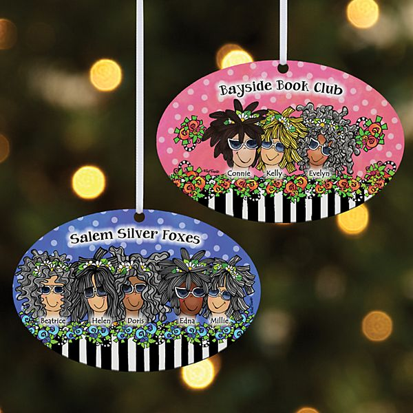 Name Your Sisterhood Oval Ornament by Suzy Toronto