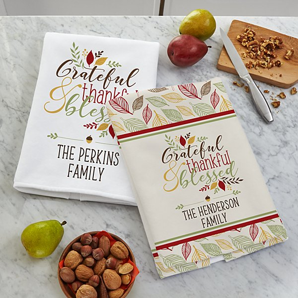 Thankful & Blessed Kitchen Towels