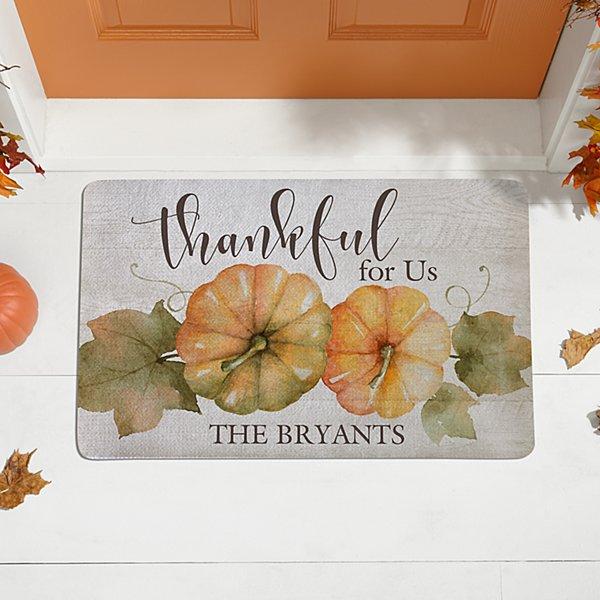 Thankful For Us Doormat
