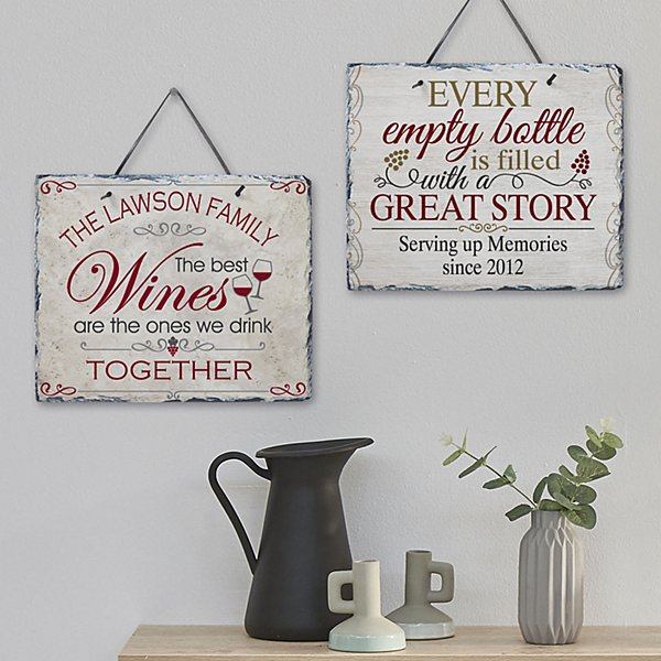 Wine Lovers Slate Sign
