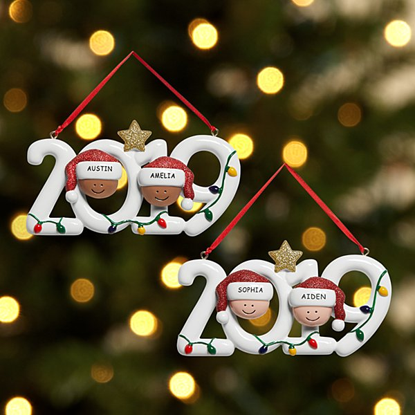 2019 Family Holiday Couple Ornament