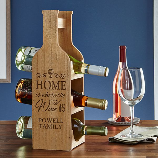 Home is Where the Wine is Bottle Display