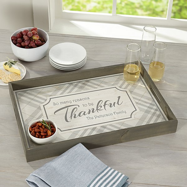 Reasons To Be Thankful Serving Tray