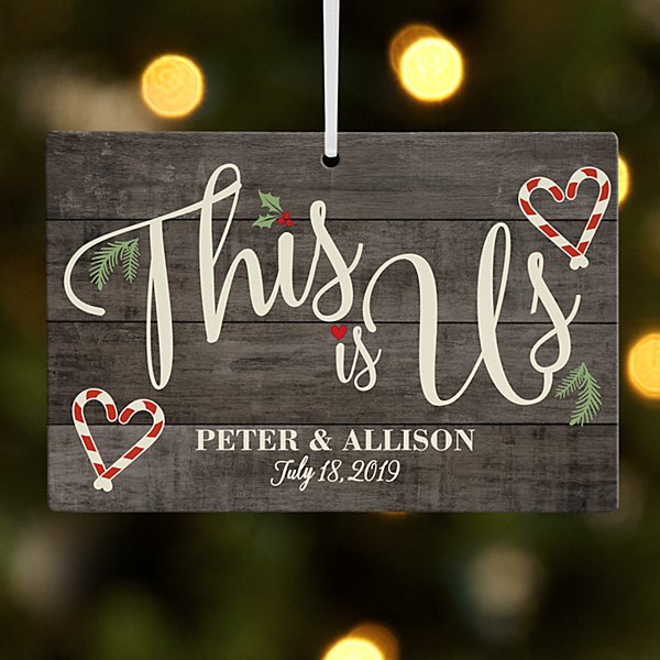 This is Us Holiday Rectangle Ornament