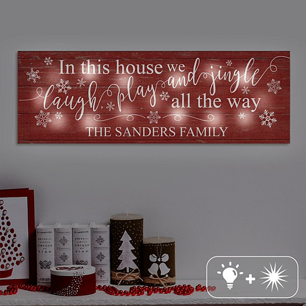 TwinkleBright® LED Jingle All The Way Canvas