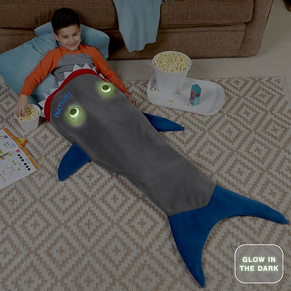 Blankie Tails® Glow In The Dark Shark Blanket