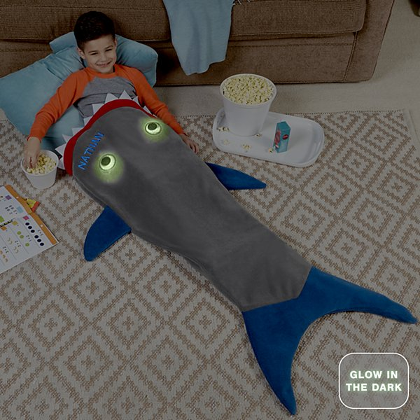 Blankie Tails® Glow In The Dark Shark Blanket