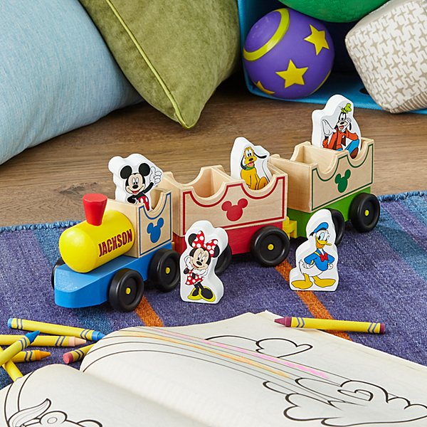 Melissa & Doug® Mickey Mouse & Friends Wooden Train