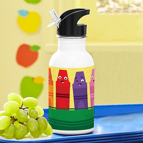 Colorful Crayons Water Bottle