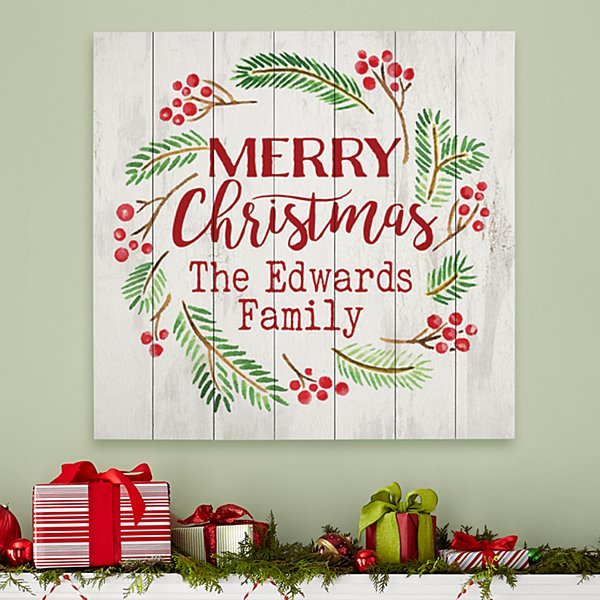 Merry Christmas Oversized Wood Pallet Wall Art