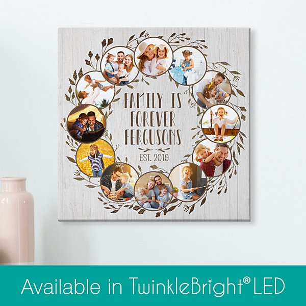 Oh What A Year Family Photo Canvas
