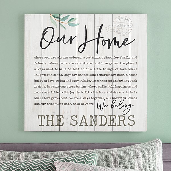 Our Home Oversized Wood Pallet Wall Art