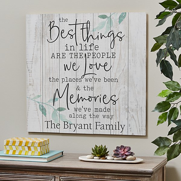 The Best Things Oversized Wood Pallet Wall Art