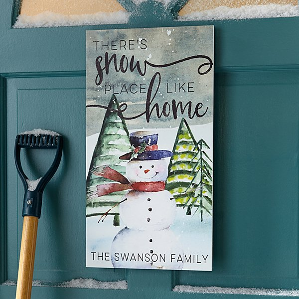 There's Snow Place Like Home Wood Wall Art