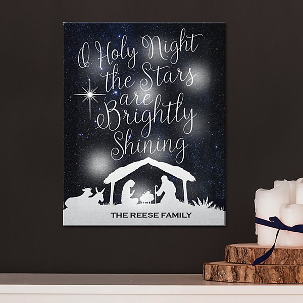 TwinkleBright® LED O' Holy Night Canvas