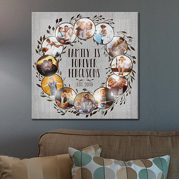 TwinkleBright® LED Oh What A Year Family Photo Canvas