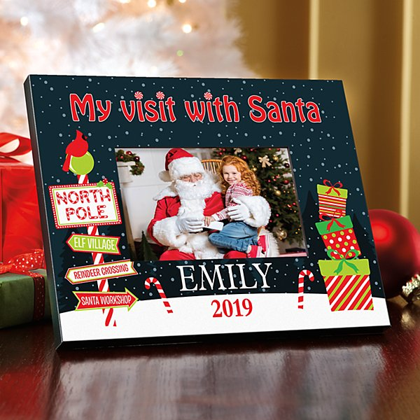 Visit with Santa Picture Frame