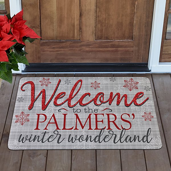 Welcome to Our Winter Wonderland Doormat