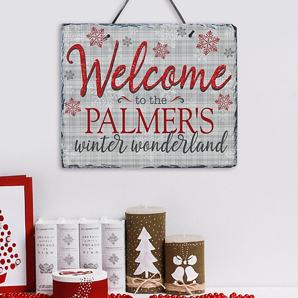 Welcome to Our Winter Wonderland Slate