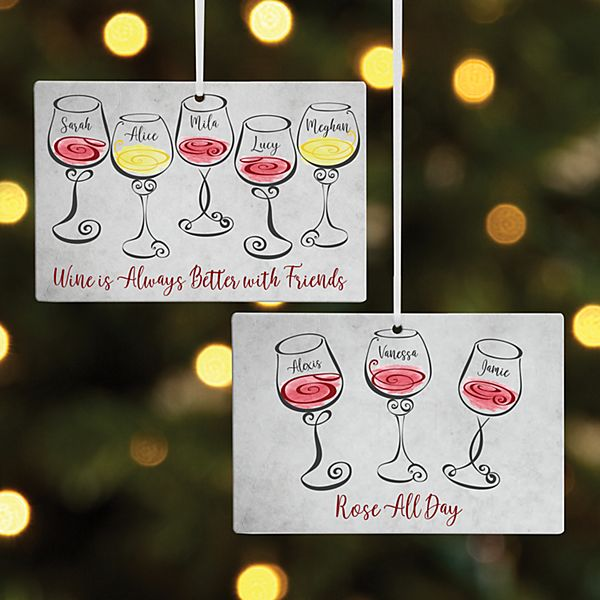 Wine Time Rectangle Ornament
