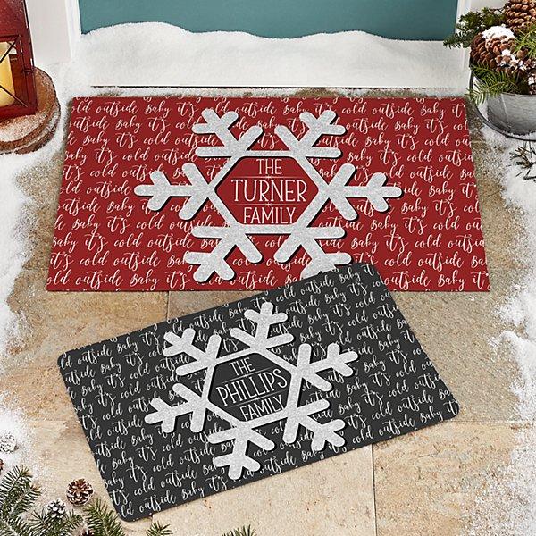 Snowflake Frost Doormat