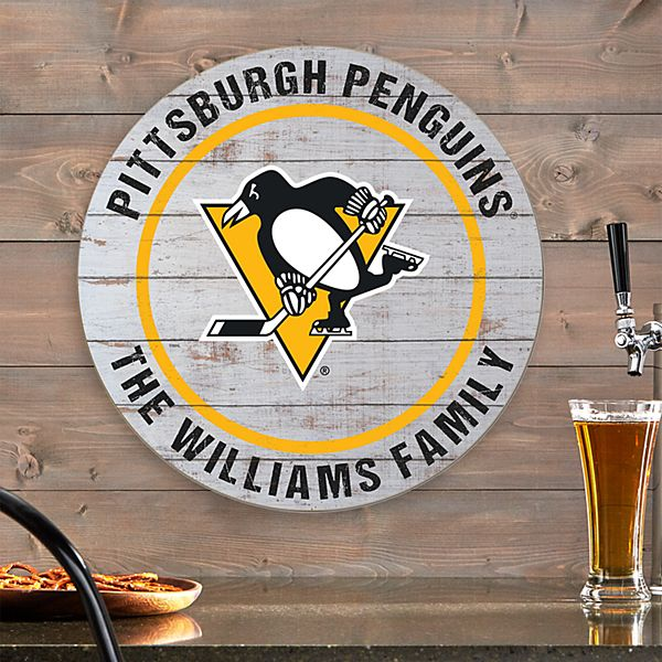 NHL Pride Rustic Wood Sign