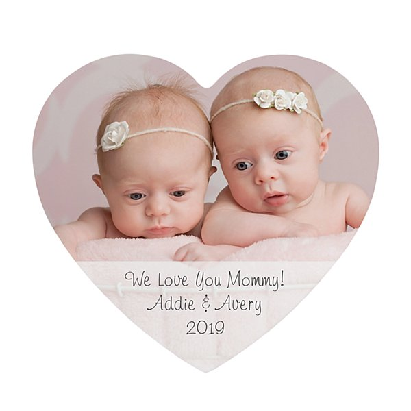 Picture Perfect Photo with Message Mini Wood Heart