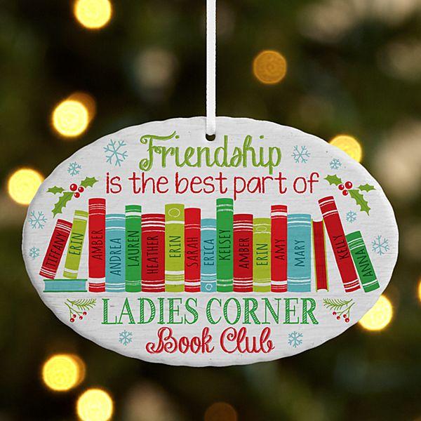 Book Club Oval Ornament