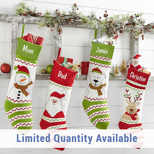 Christmas Cuties Knit Stocking