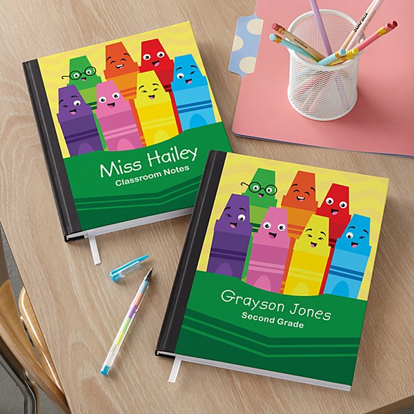 Colorful Crayons Notebook