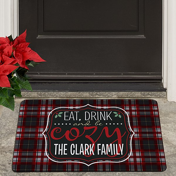Eat, Drink and Be Cozy Doormat