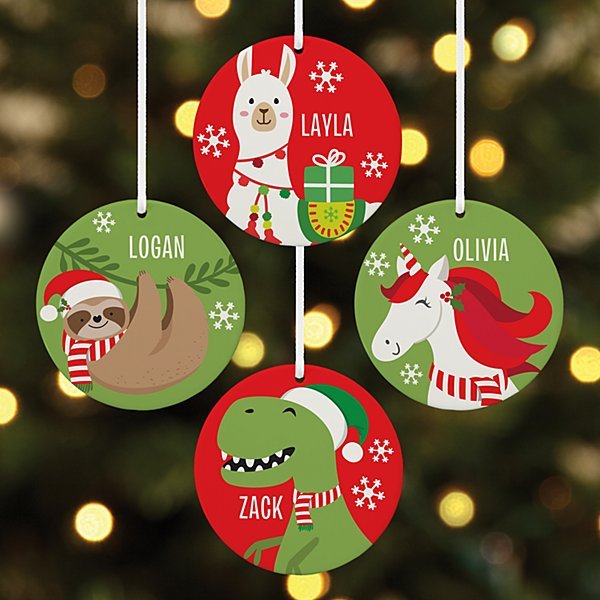 Fa La La Friends Round Ornament