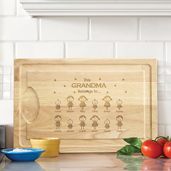 Family Belonging Wood Cutting Board