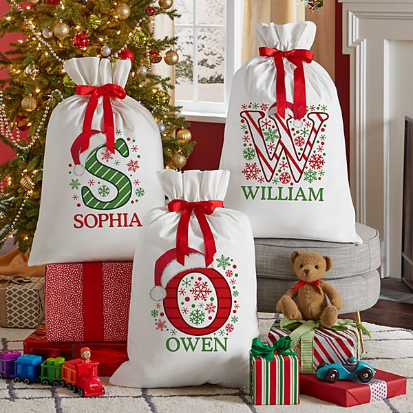 Festive Name Oversized Gift Bag