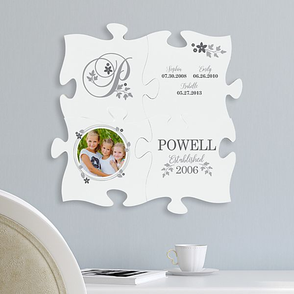 Forever Family Mini Photo Puzzle Piece Set