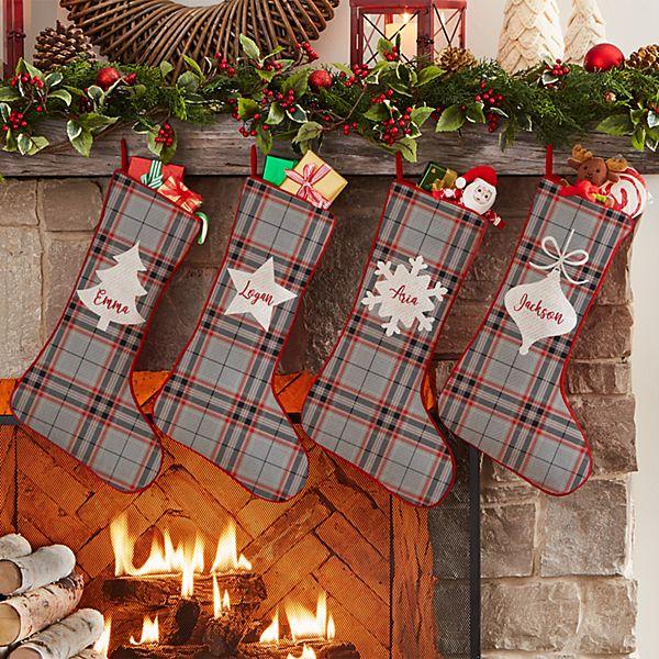 Holiday Plaid Stocking