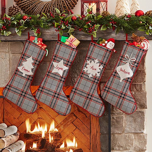 Holiday Plaid Stocking