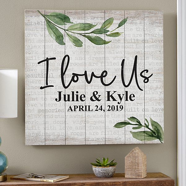 I Love Us Oversized Wood Pallet Wall Art