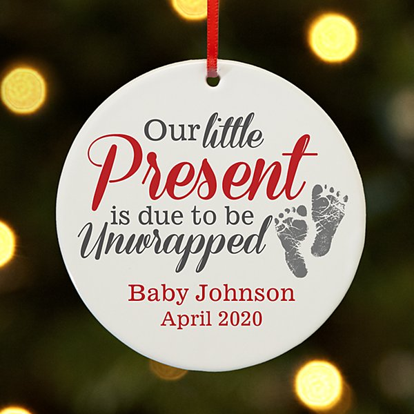 Little Present Round Ornament