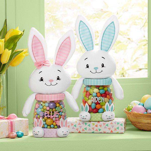 Bunny Slippers Plush Treat Jar