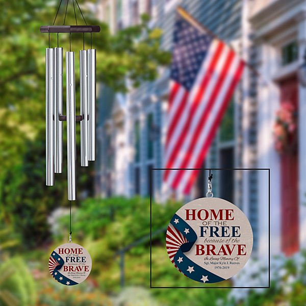 Military Hero Wind Chime