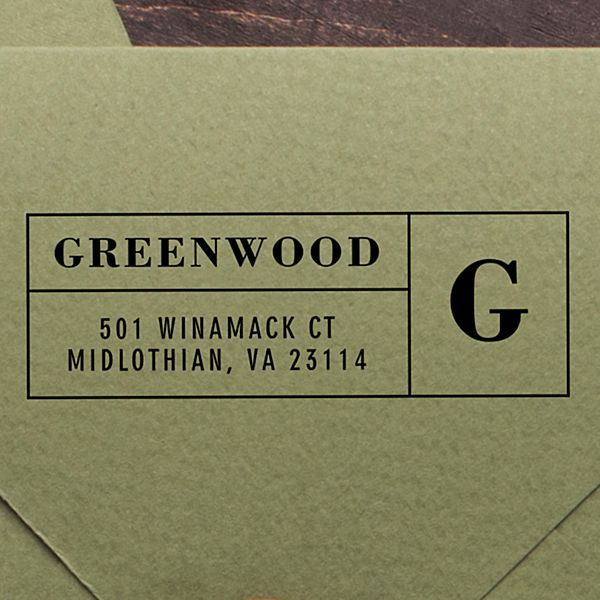 Boldly Monogrammed Self-Inking Stamp
