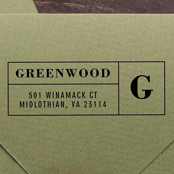 Boldly Monogrammed Self-Inking Stamp