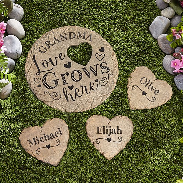 Love Grows Here Garden Stone