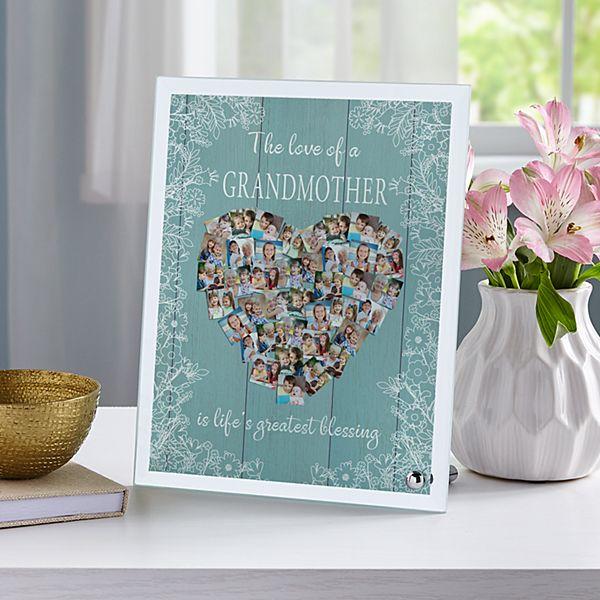 Love Fills Her Heart Photo Glass Frame