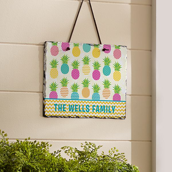Pineapple Paradise Slate Sign