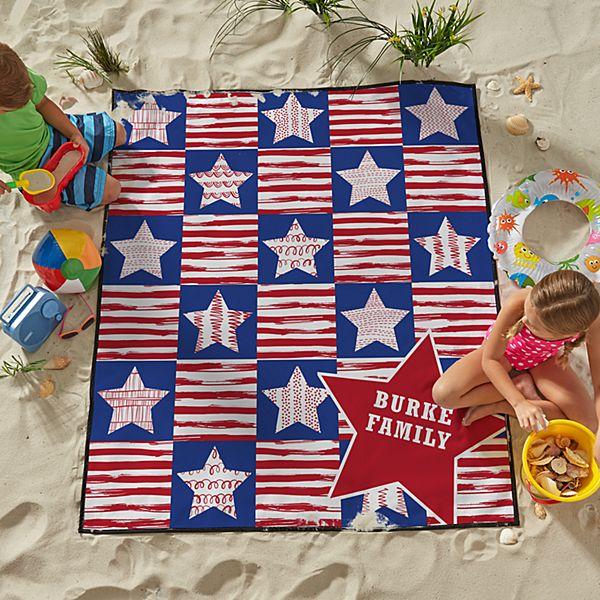 Stars & Stripes Family Beach Blanket