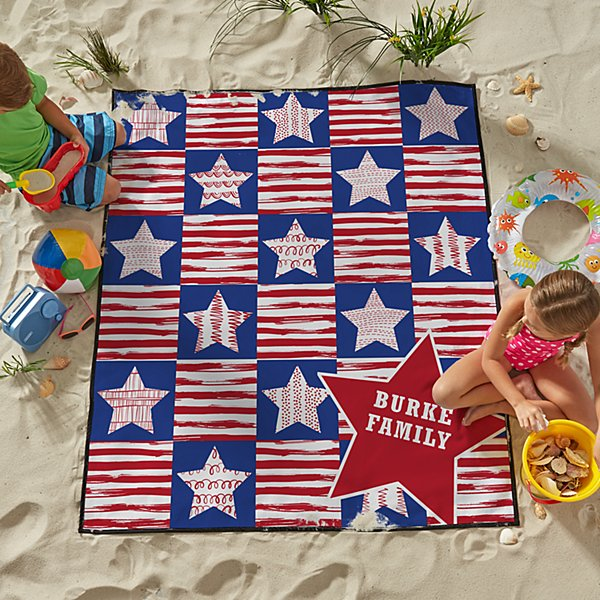 Stars & Stripes Family Beach Blanket