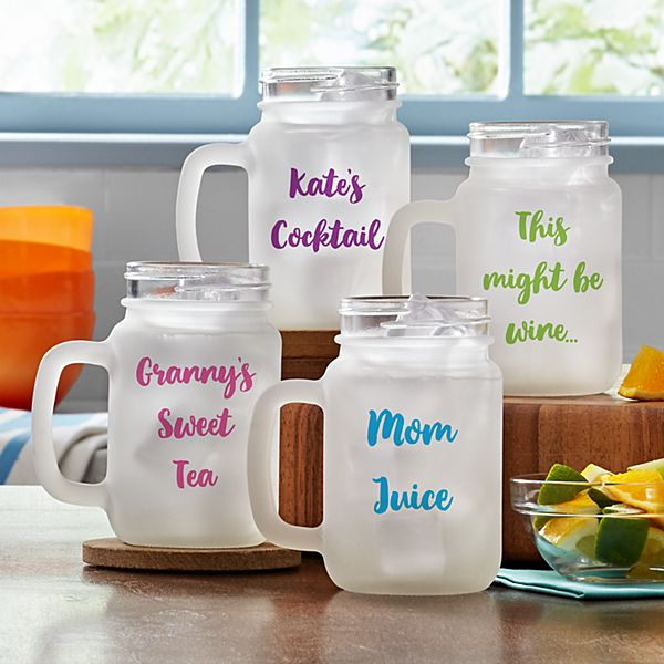 Sweet Sips Frosted Mason Jar
