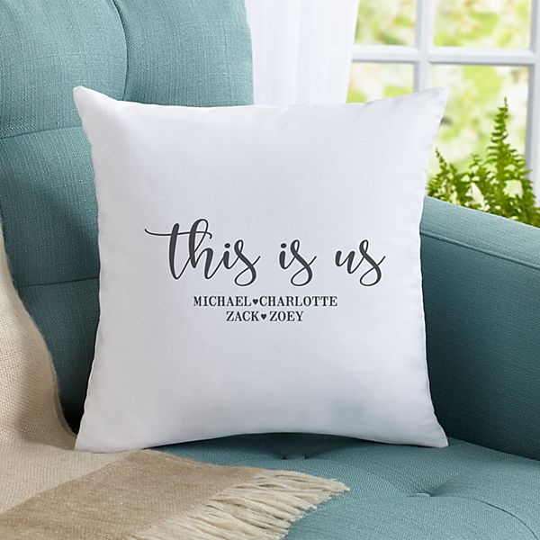This Is Us Throw Pillow